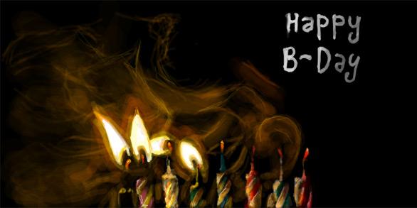 С днем рождения темные открытки